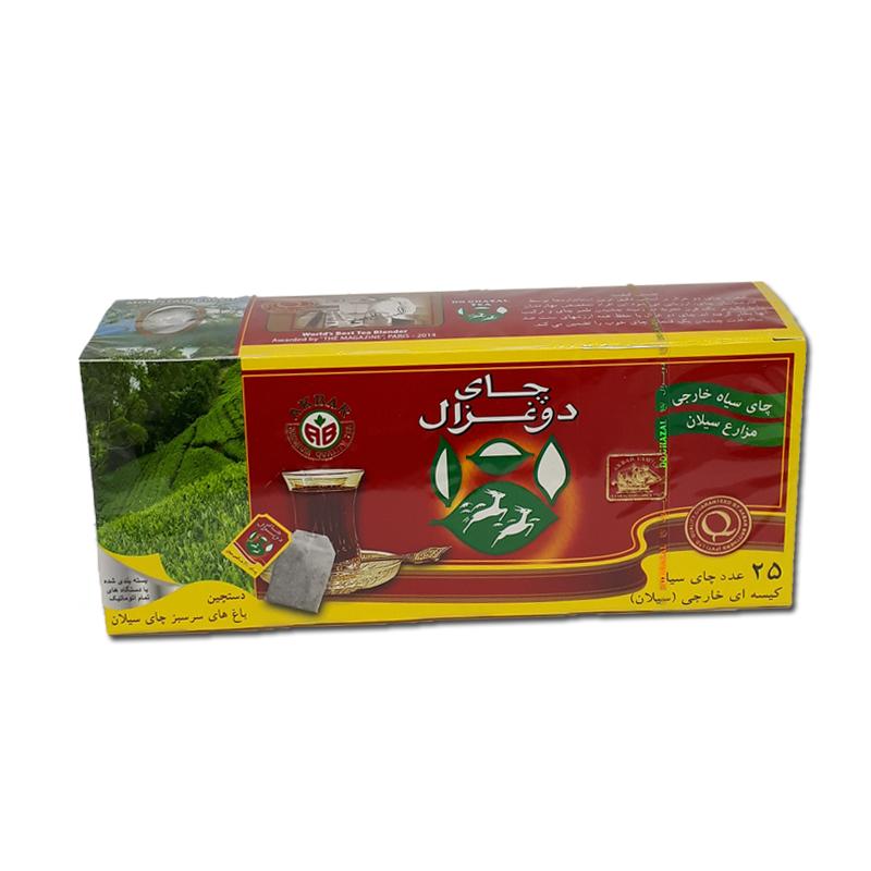 چای کیسه ایی دوغزال ۲۵تایی ساده