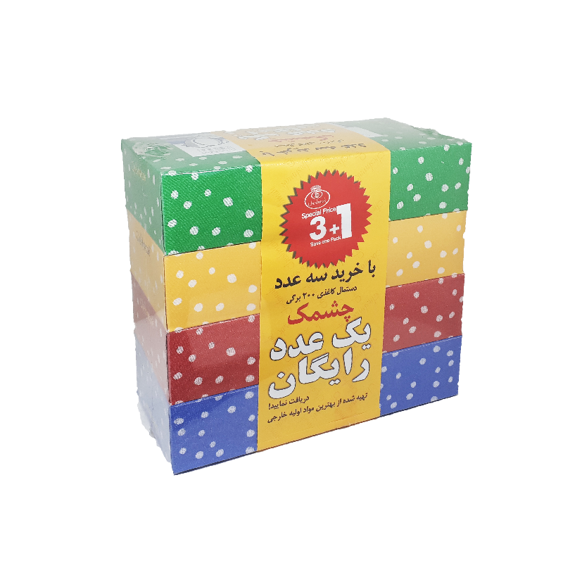 دستمال کاغذی چشمک ۲۰۰برگ (۱+۳)