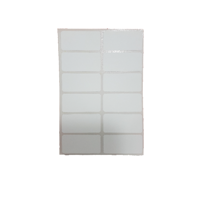 برچسب سفید متوسط (بسته ایی)