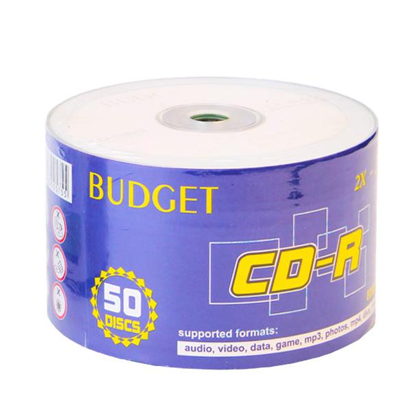 سی دی خام BUDGET  بسته ۵۰ عددی